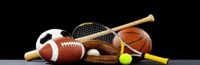 Sport Bälle und Schläger